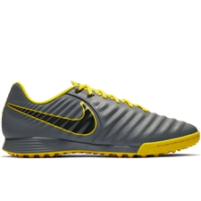 Nike LegendX 7 Academy TF Turf Soccer Shoes (Dark Grey/Black/Opti Yellow)