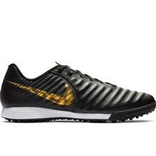 Nike LegendX 7 Academy TF Turf Soccer Shoes (Black/Metallic Vivid Gold)