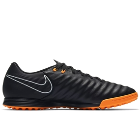 Nike Tiempo LegendX VII Academy TF Turf Soccer Shoes (Black/Total Orange/White)