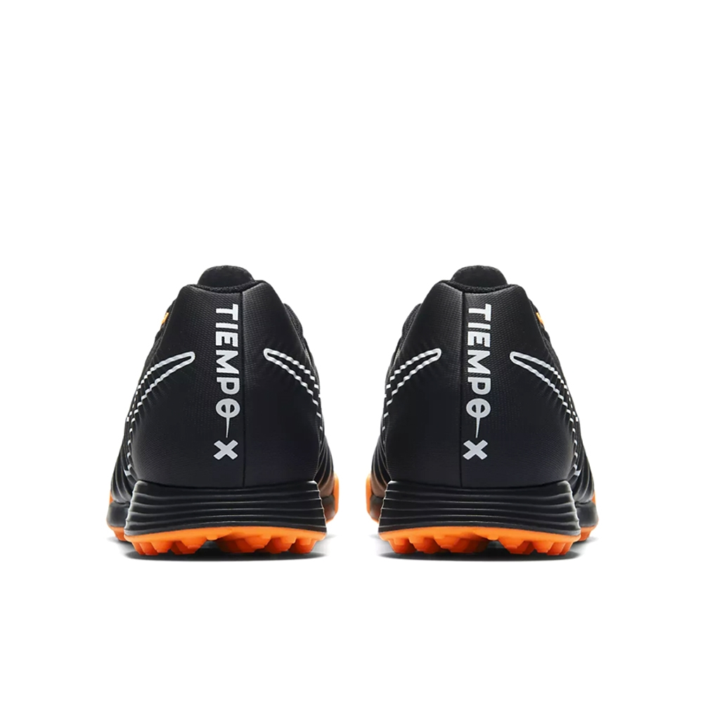 06b3ebbd92d Nike Tiempo LegendX VII Academy TF Turf Soccer Shoes (Black Total Orange  White)