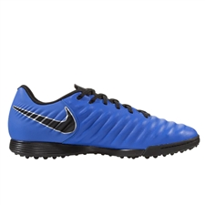 Nike LegendX 7 Academy TF Turf Soccer Shoes (Racer Blue/Black/Metallic Silver)