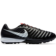 Nike Lunar LegendX VII Pro TF Turf Soccer Shoes (Black/Pure Platinum/Light Crimson)