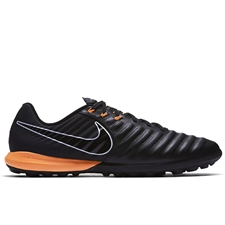 Nike Tiempo LegendX VII Pro TF Turf Soccer Shoes (Black/Total Orange)