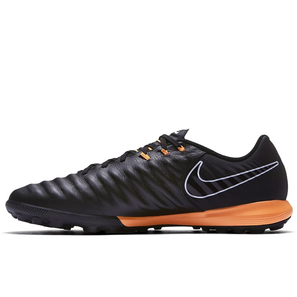 29b1107aaf16 Nike Tiempo LegendX VII Pro TF Turf Soccer Shoes (Black/Total Orange ...