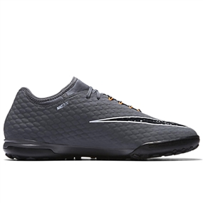 Nike Hypervenom PhantomX III Pro TF Turf Soccer Shoes (Dark Grey/Total Orange/White)