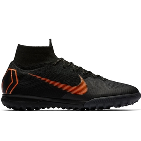 Nike SuperflyX VI Elite TF Turf Soccer Shoes (Black/Total Orange/White)