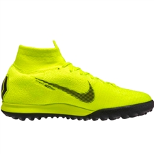 Nike SuperflyX 6 Elite TF Turf Soccer Shoes (Volt/Black)
