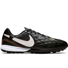 Nike Lunar LegendX 7 Pro 10R TF Turf Soccer Shoes (Black/Light Orewood/Metallic Gold)