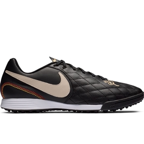 Nike Lunar LegendX 7 Academy 10R TF Turf Soccer Shoes (Black/Light Orewood/Metallic Gold)