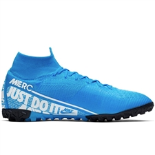 Nike Superfly 7 Elite TF Turf Soccer Shoes (Blue Hero/White/Volt/Obsidian)