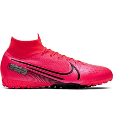 Nike Mercurial Superfly 7 Elite TF Turf Soccer Shoes (Laser Crimson/Black)