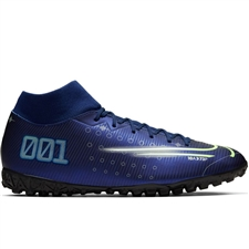 Nike Superfly 7 Academy MDS TF Turf Soccer Shoes (Blue Void/Barley Volt/White/Black)