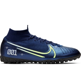 Nike Superfly 7 Elite MDS TF Turf Soccer Shoes (Blue Void/Barley Volt/White/Black)