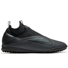 Nike React Phantom Vision 2 Pro DF TF Turf Soccer Cleats (Black)