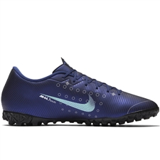 Nike Vapor 13 Academy MDS TF Turf Soccer Shoes (Blue Void/Barley Volt/White/Black)