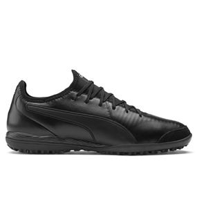 Puma King Pro TT Turf Soccer Shoes (Puma Black/Puma White)