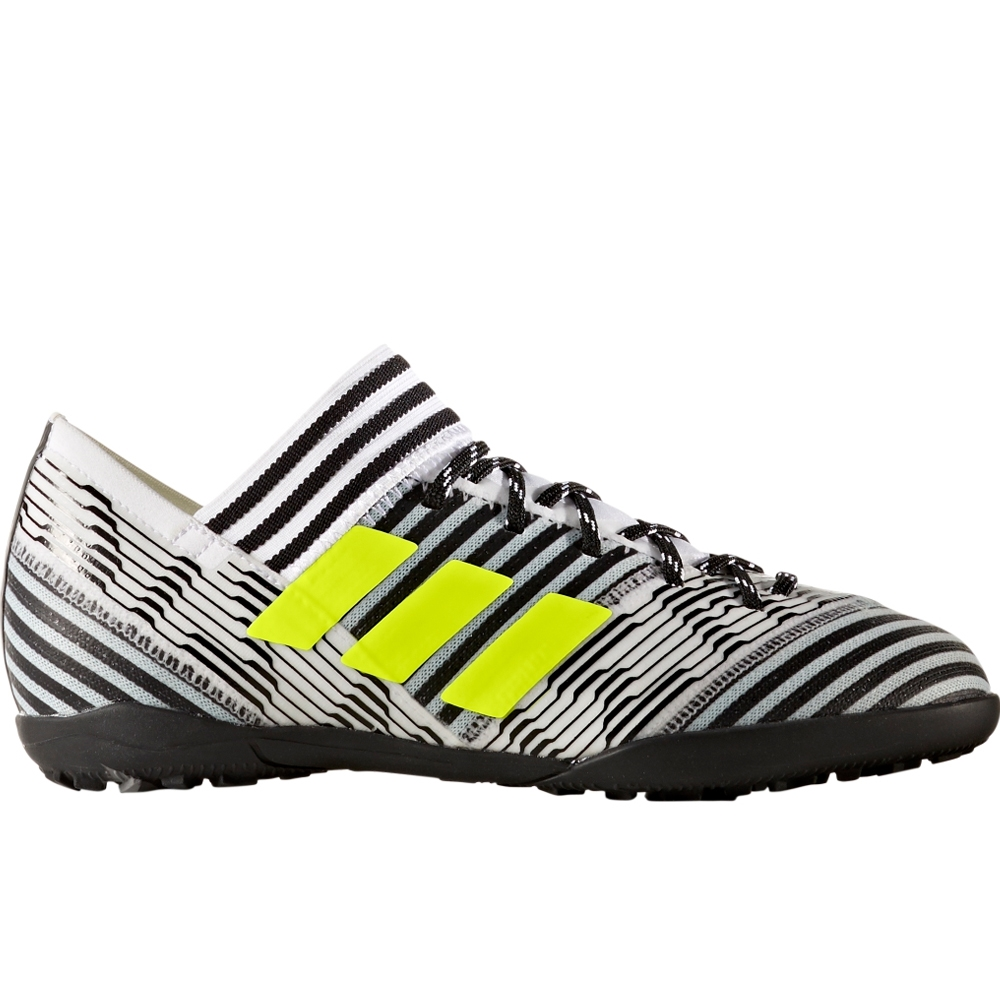 Adidas Nemeziz Tango 17.3 Youth TF Turf Soccer Shoes (White/Solar  Yellow/Core