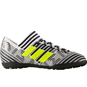 Adidas Nemeziz Tango 17.3 Youth TF Turf Soccer Shoes (White/Solar Yellow/Core Black)