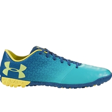 Under Armour Youth Magnetico Select TF Turf Soccer Shoes (Teal Punch/Moroccan Blue/Tokyo Lemon)