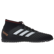 Adidas Predator Tango 18.3 Youth TF Turf Soccer Shoes (Core Black/White/Solar Red)