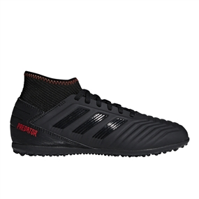 Adidas Predator 19.3 Youth Turf Soccer Shoes (Core Black/Active Red)