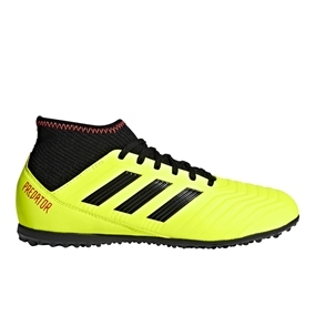 Adidas Predator Tango 18.3 Youth TF Turf Soccer Shoes (Solar Yellow/Black/Solar Red)