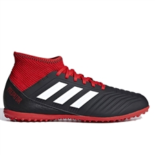 Adidas Predator Tango 18.3 Youth TF Turf Soccer Shoes (Black/White/Red)