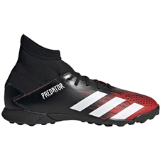 Adidas Youth Predator 20.3 TF Turf Soccer Cleats (Core Black/White/Active Red)