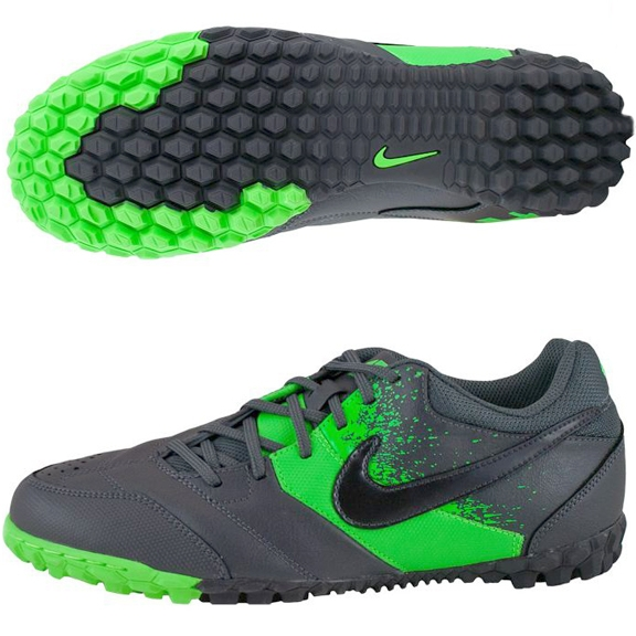 708510017 $35.99 |Nike 5 Bomba Youth Turf Shoes in Gray and Green | Nike Youth Turf Soccer  Shoes | Nike5