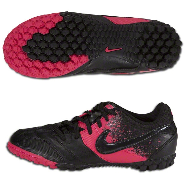 ed1c9acf Nike5 Bomba Youth Turf Soccer Shoes (Black/Black/Cherry)