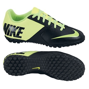 Nike FC247 Bomba II Youth Turf Soccer Shoes (Black/Volt/Electric Green)
