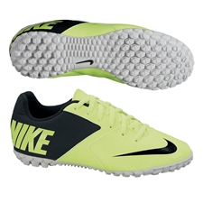 Nike FC247 Bomba II Youth Turf Soccer Shoes (Volt/Neutral Grey/Black)