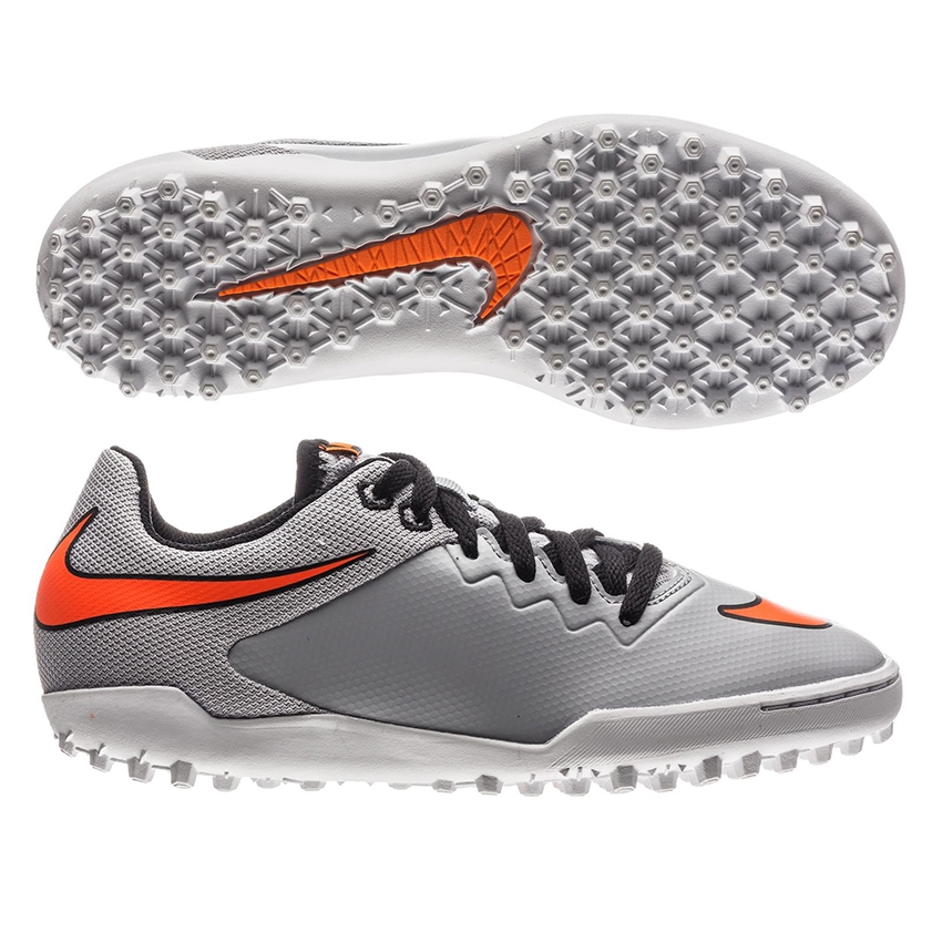 5e04f2f3 Nike HypervenomX Pro TF Youth Turf Soccer Shoes (Wolf Grey/Black/Total  Orange)