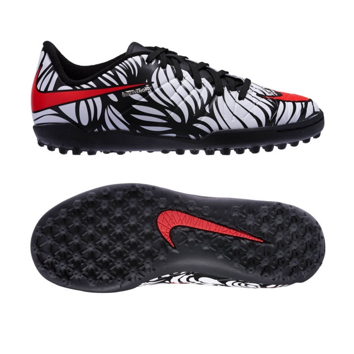 0a622e7f Nike Youth Neymar Hypervenom Phelon TF Turf Soccer Shoes  (Black/White/Bright Crimson)