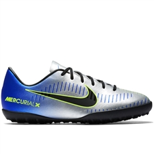 Nike Neymar Youth MercurialX Victory VI TF Turf Soccer Shoes (Racer Blue/Black/Chrome/Volt)