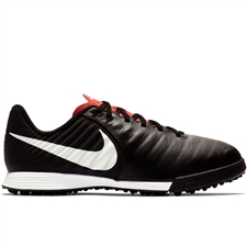 Nike Youth LegendX VII Academy TF Turf Soccer Shoes (Black/Pure Platinum/Light Crimson)