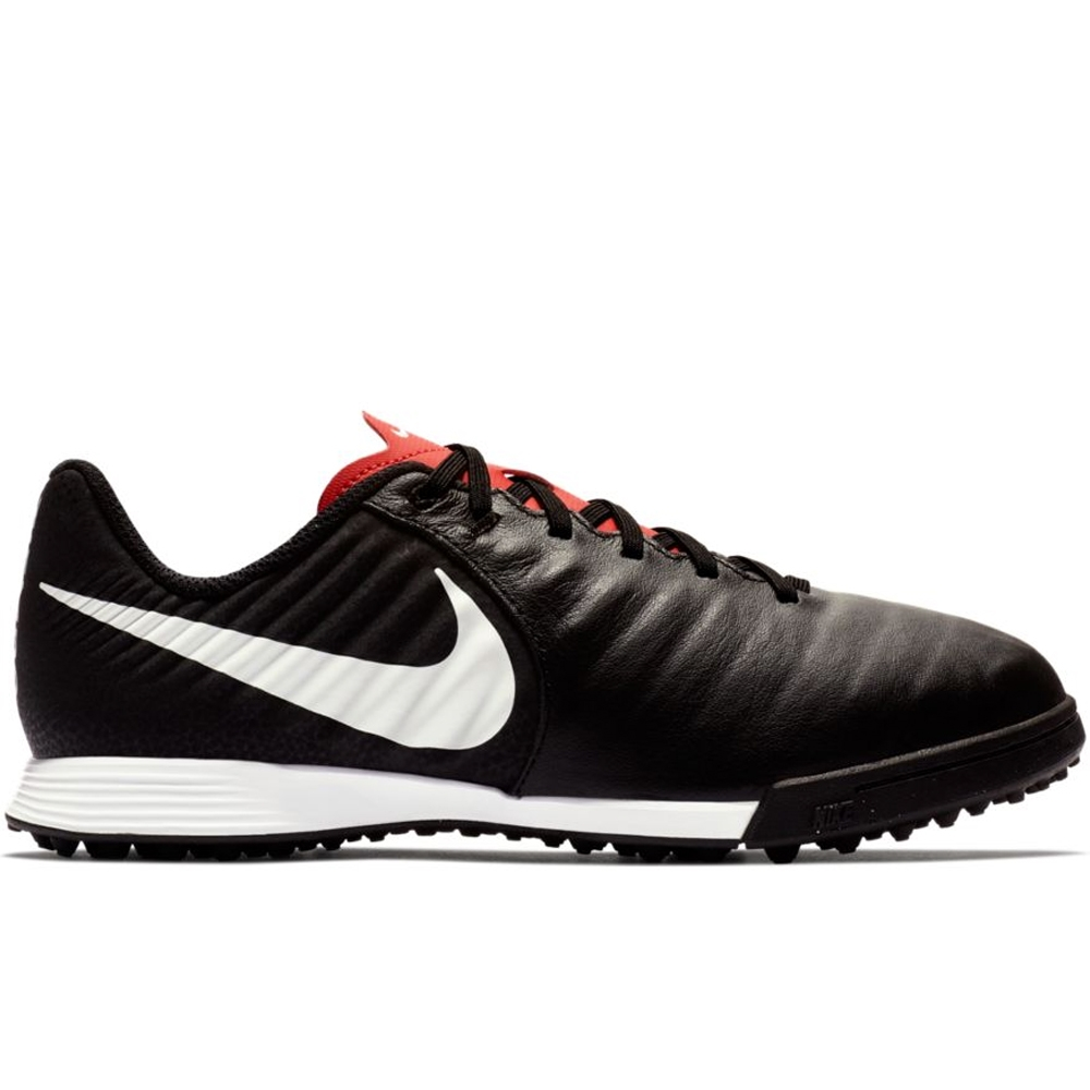 Nike Youth LegendX VII Academy TF Turf Soccer Shoes (BlackPure PlatinumLight Crimson)