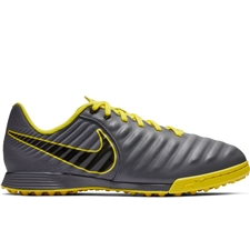 Nike Youth LegendX 7 Academy TF Turf Soccer Shoes (Dark Grey/Black/Opti Yellow)