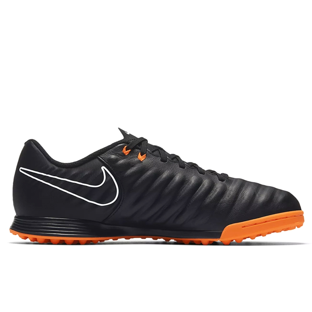 Nike Youth Tiempo LegendX VII Academy TF Turf Soccer Shoes (Black/Total  Orange/ ...