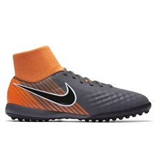 Nike Youth Magista ObraX II Academy DF TF Turf Soccer Shoes (Dark Grey/Black/Total Orange/White)