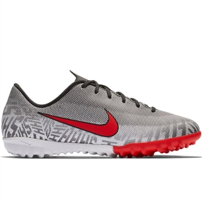Nike Youth Neymar Vapor 12 Academy TF Turf Soccer Shoes (White/Challenge Red/Black)