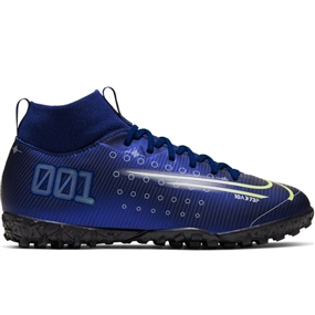 Nike Youth Superfly 7 Academy MDS TF Turf Soccer Shoes (Blue Void/Barley Volt/White/Black)