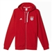 Adidas Bayern Munich 3-Stripes Full Zip Hoodie (FCB True Red/White)