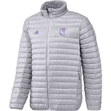 Adidas Real Madrid Light Down Padded Jacket (White/Royal Purple)
