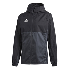 Adidas Tiro 17 Rain Jacket (Black/Dark Grey/White)