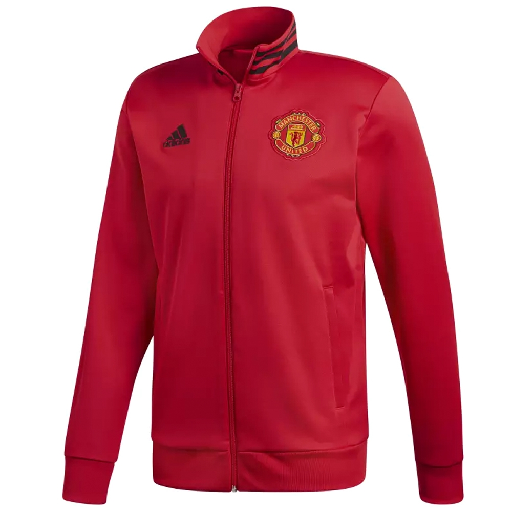 060c991771b44 Adidas Manchester United 3-Stripes Track Jacket (Real Red Black ...