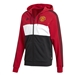 Adidas Manchester United Full Zip Hoodie (Real Red/White/Black)