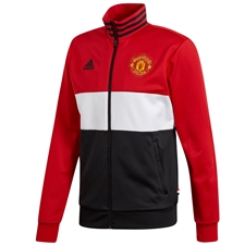 Adidas Manchester United 3 Stripes Track Top (Real Red/White/Black)