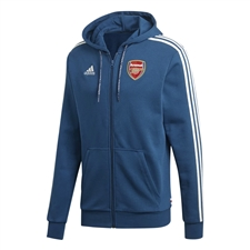 Adidas Arsenal Full Zip Hoodie (Legend Marine)