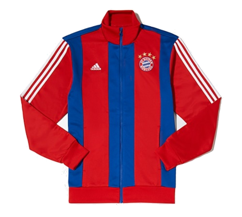 b53ede331 Adidas FC Bayern Munich Track Jacket (Red/Blue/White)